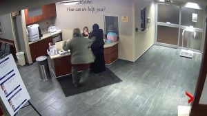 CCTV video shows man attacking Muslim woman at Michigan hospital